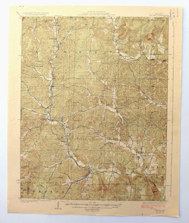 Des Arc Missouri Vintage 1929 Usgs Topo Map Annapolis 15 Minute