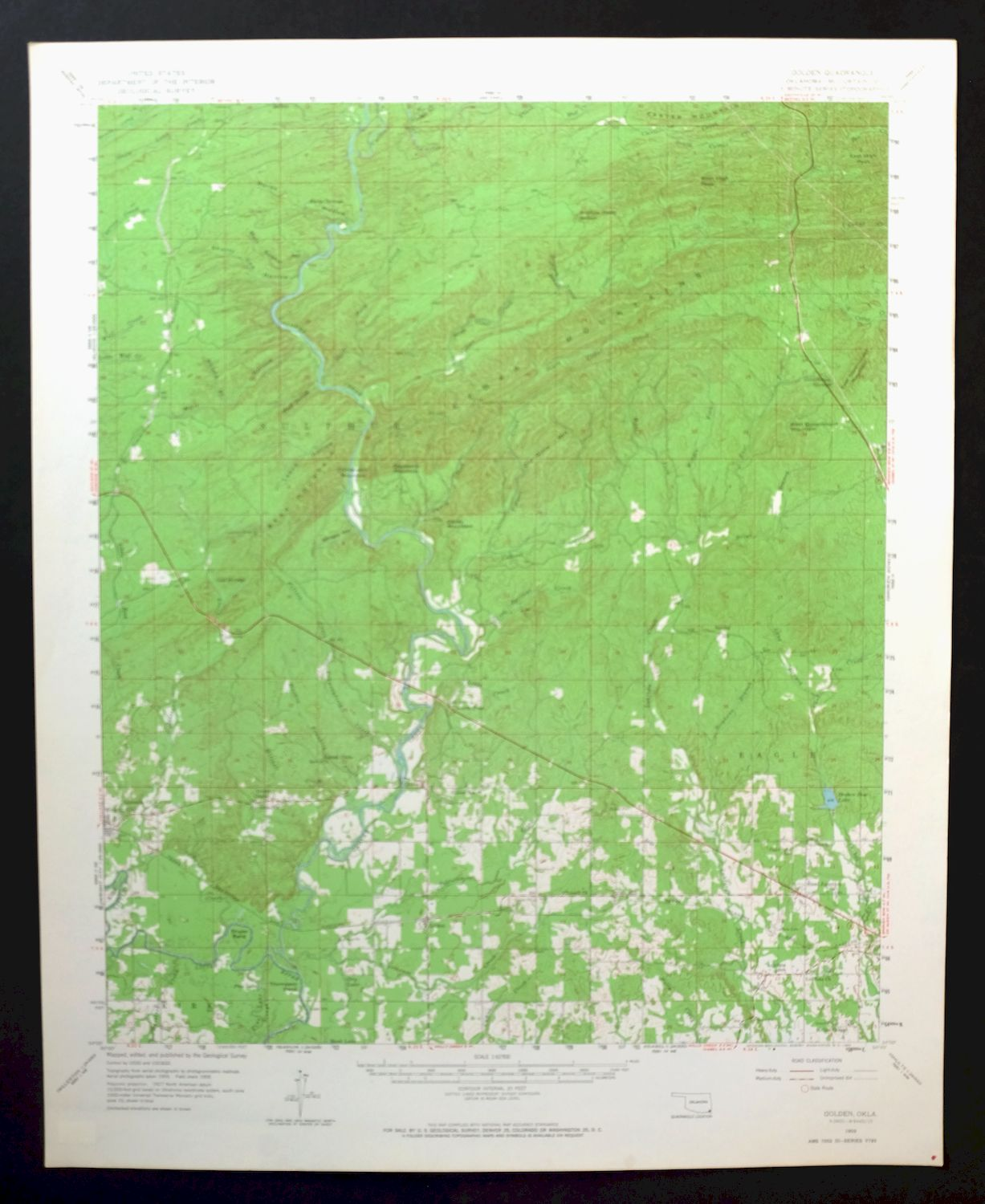 Details about Golden Oklahoma Vintage USGS Topo Map 1959 Wright City  15-minute Topographical