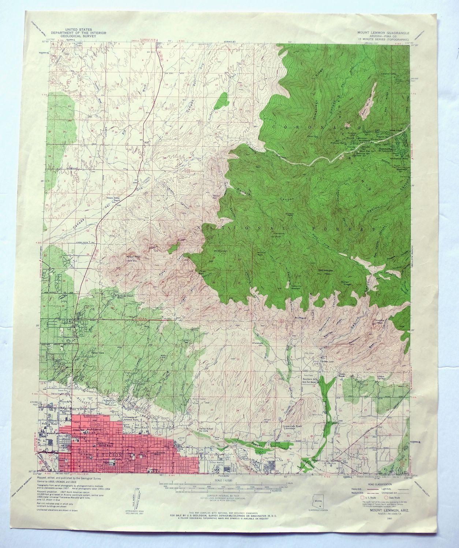 Mount Perkins Lake Mohave Black Mountains Arizona Nevada Vintage Original USGS Topo Map 1959 15-minute Topographic