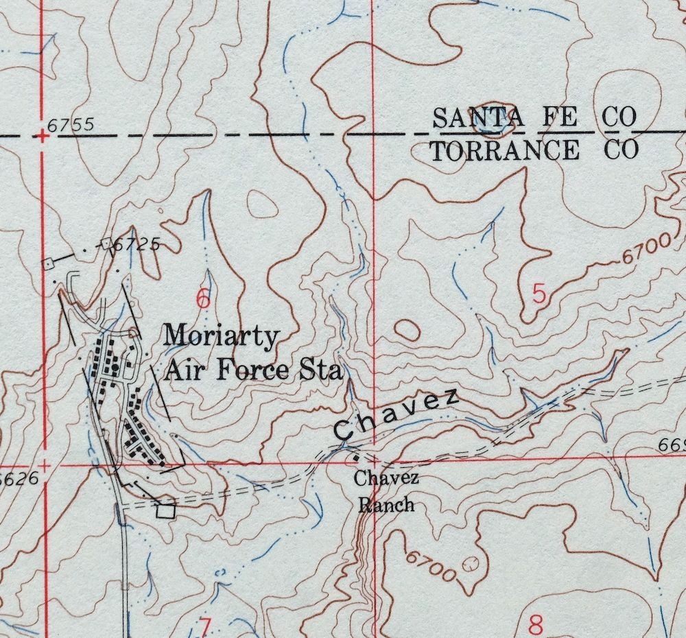 Details about 1960 Stanley New Mexico Moriarty Vintage 15-minute USGS  Topographic Topo Map