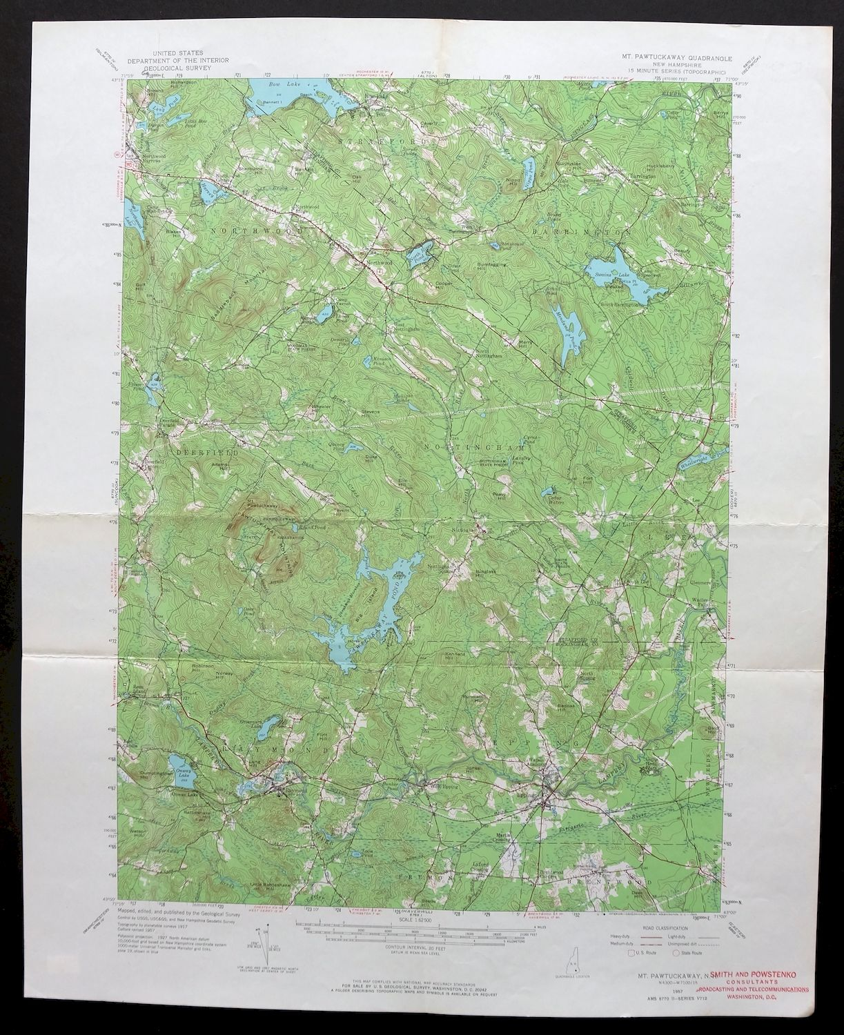Details about 1957 Mount Pawtuckaway New Hampshire Raymond Epping Vintage on
