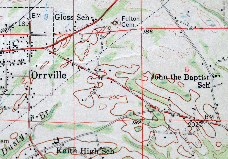 Selma Map Alabama Selma 15-minute USGS Topo 1958 Selmont ...