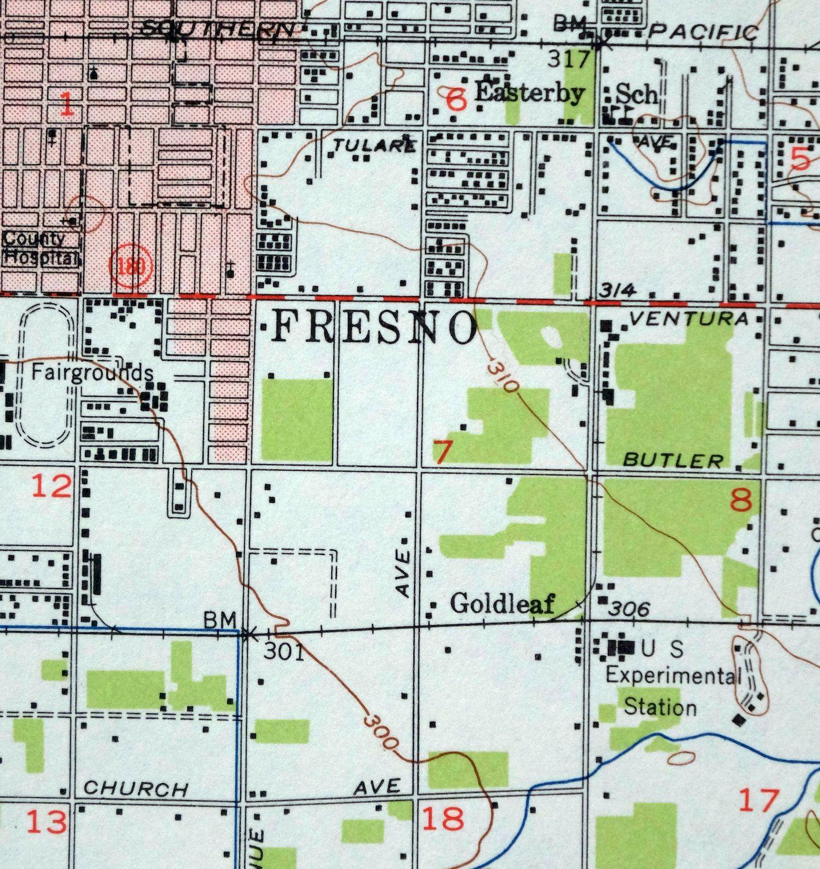 1946 Selma California Fresno Sanger Kingsburg Vintage Usgs