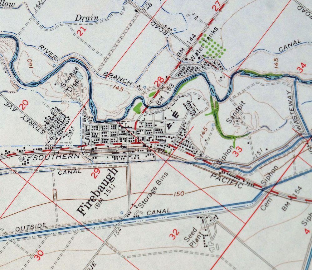 Details about 1962 Firebaugh California Mendota Vintage 15-minute USGS  Topographic Topo Map