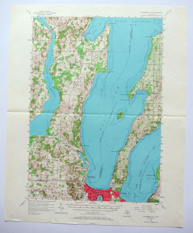 1957 Itinerario Ciudad Michigan Greilickville Vintage 15