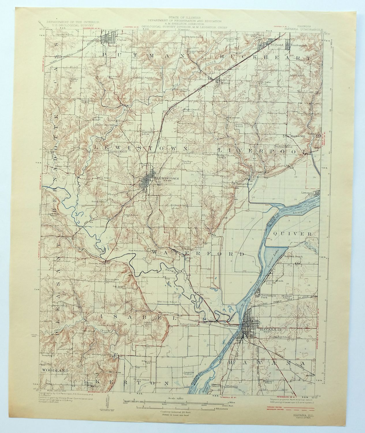 graphic about Printable Map of Havana identify Data regarding Havana Illinois Basic 1925 USGS Topo Map Lewistown Cuba 15-second Topographic