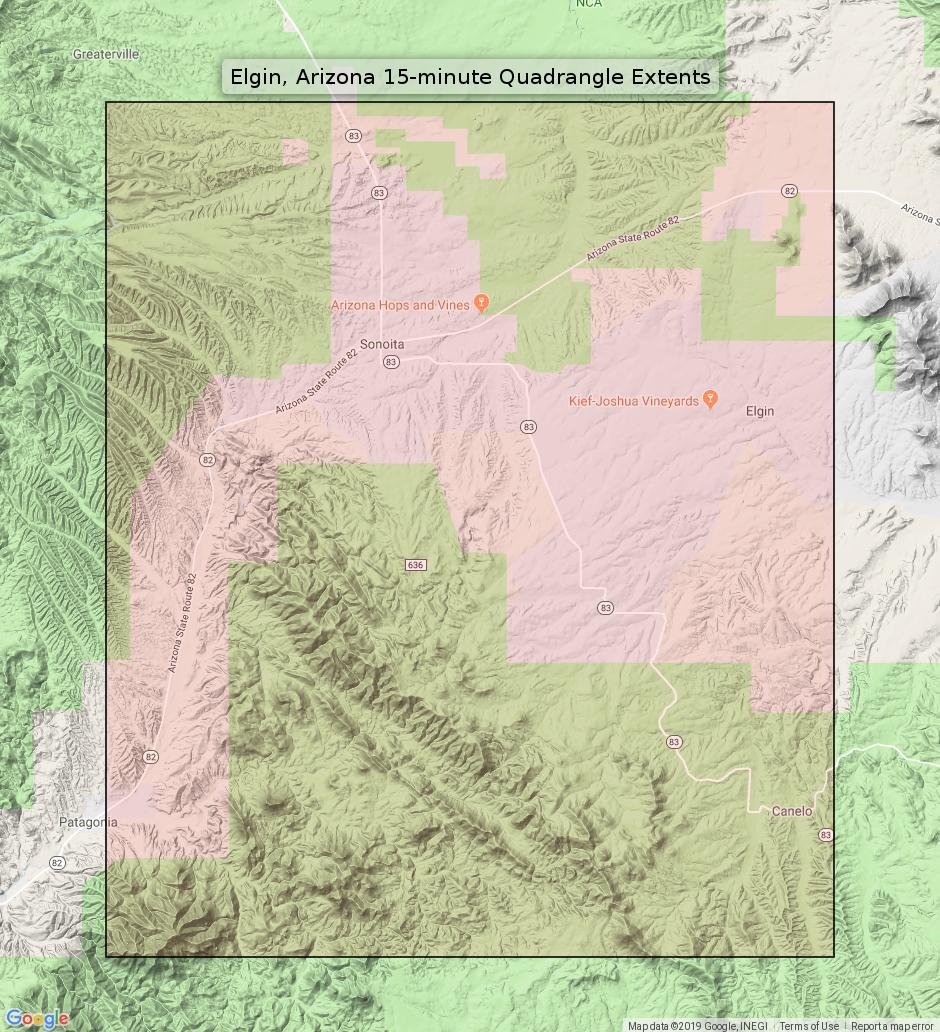 Map Of Elgin Arizona.Details About Elgin Arizona Vintage Usgs Topo Map 1958 Patagonia Sonoita Canelo Topographic